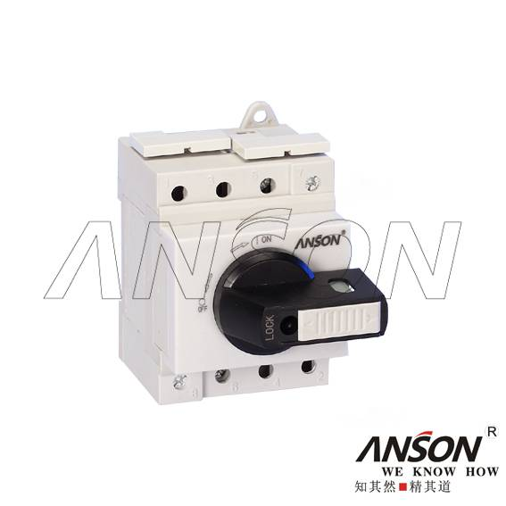 ASL4-005 Solar DC Isolator Switch Without Enclosure (Din Rail Mounted)