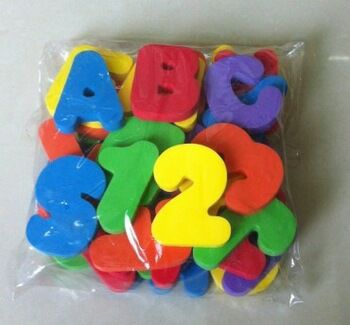 Unique colorful letter EVA foam bath toys made in Huizhou