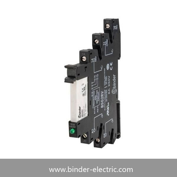 PLC 6.2mm Thickness DIN-Rail 6A Contact Rating Slim Interface Relay Brg2RV
