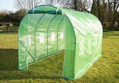 4 x 2 x 2M Galvanised Steel Frame Polytunnel Greenhouse