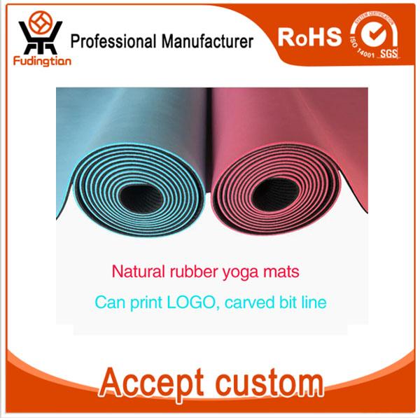 Custom Logo With Carrying Strap Folding Chakra Rubber Eco Friendly Yoga Mat