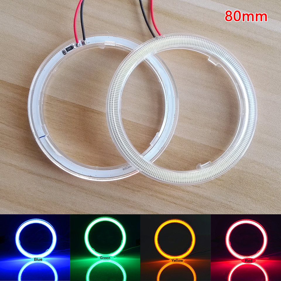 80mm Wholesale Halo Rings LED Angel Eyes DRL