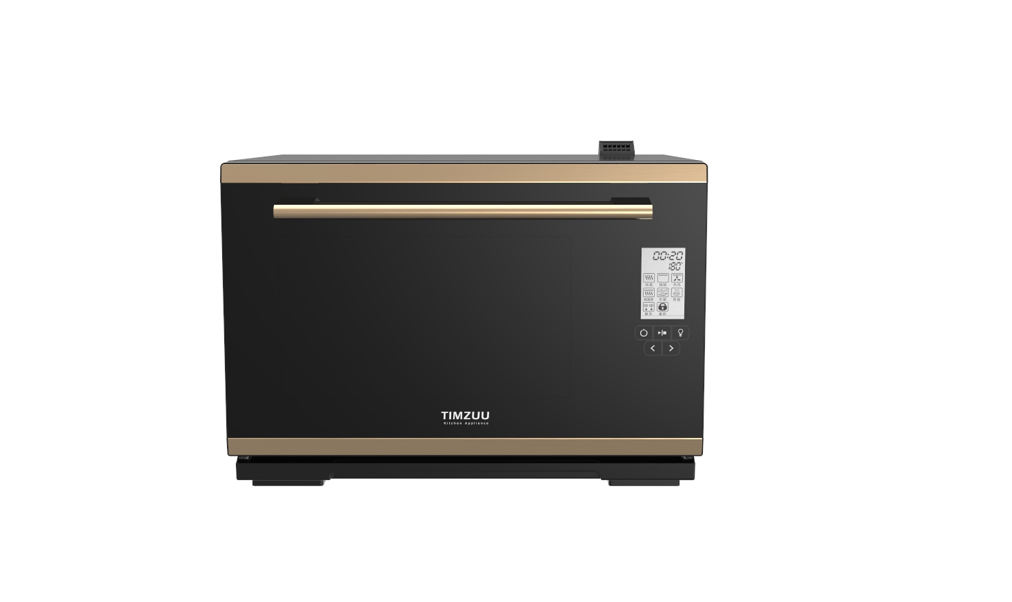 28L knob /touch screen desktop electric steam ovens