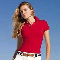 Women's short sleeve blank polo shirts