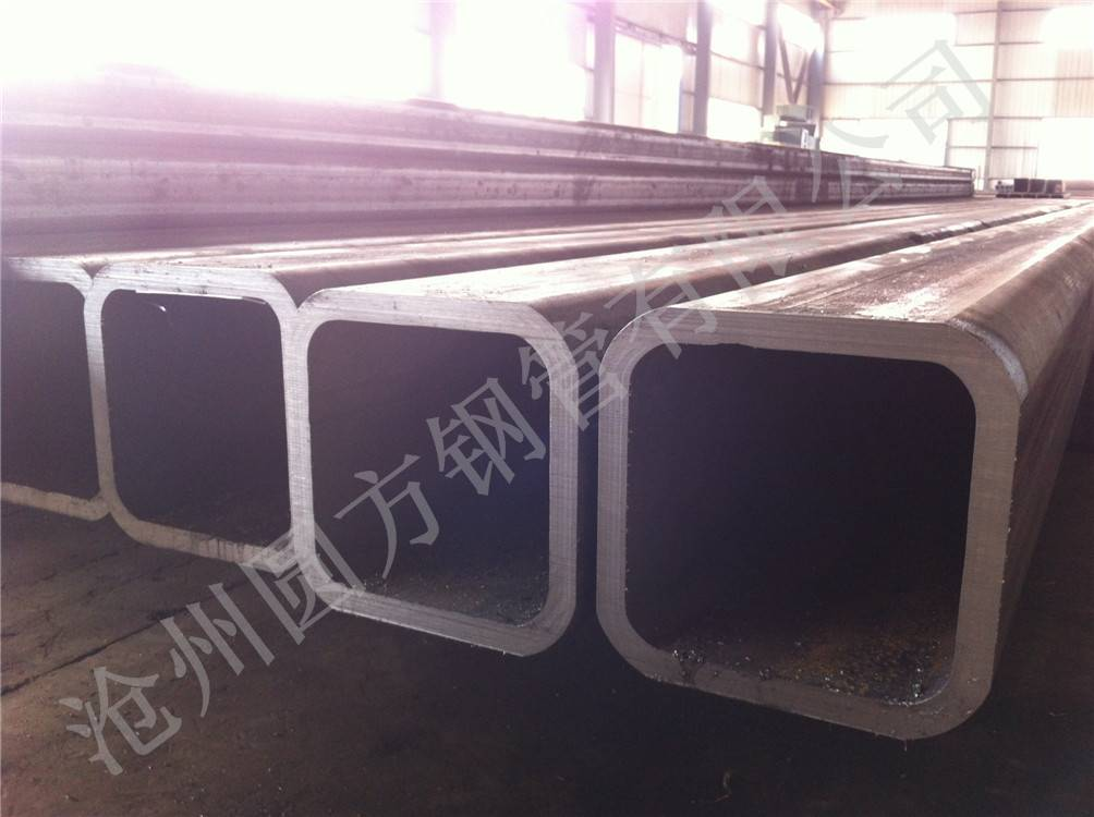big diameter 500*500mm seamless square hollow section steel tube