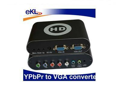 HD YPBPR TO VGA Converter Box with R/L audio support 1920X1080