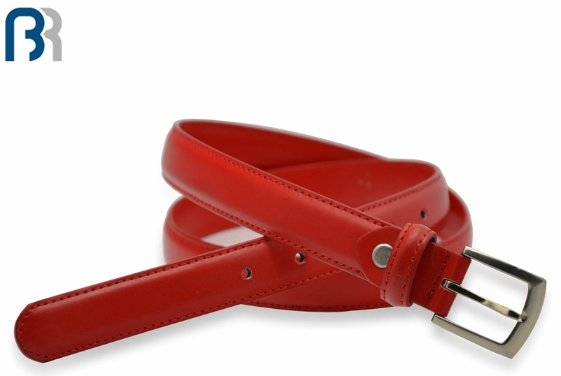 Ladies Red Stitching PU Belt