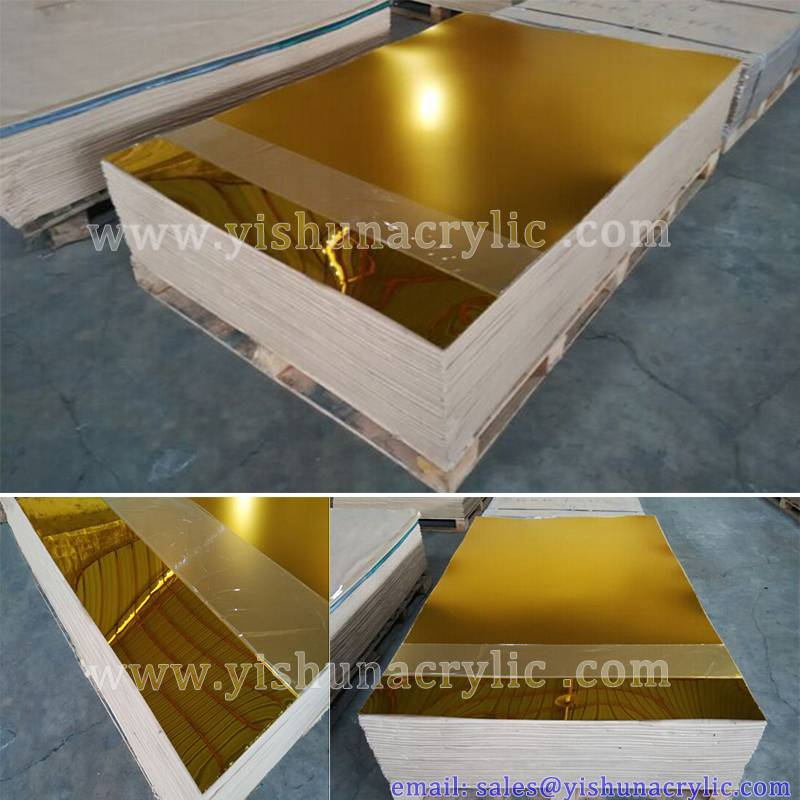 wholesale decoration gold mirror acrylic sheet 1mm-6mm