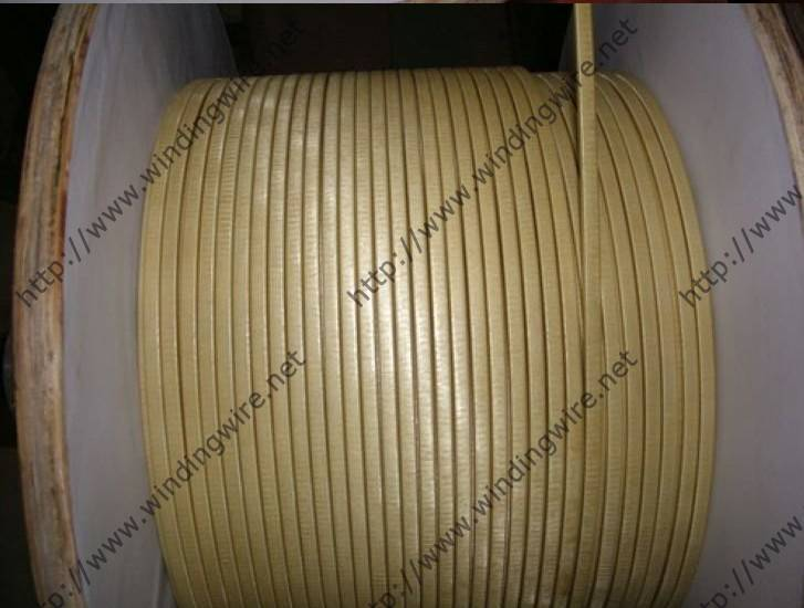 Fiber glass covered enameled wire