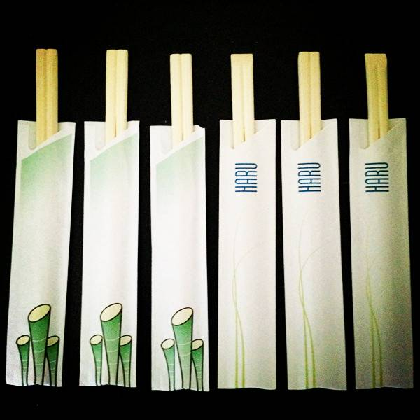semi-closed paper sleeve bamboo chopsticks
