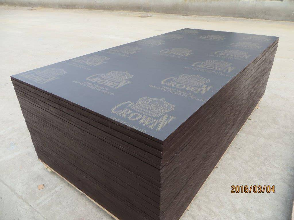CROWN' BRAND FILM FACED PLYWOOD, COMBI CORE, WBP MELAMIME GLUE, BROWN PRINTED FILM