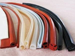 Food grade 100% silicone extrusion with translucent, dark red