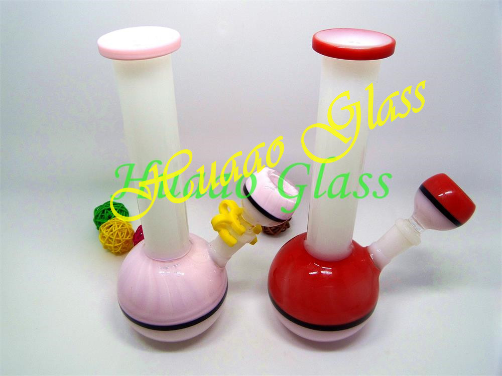 8 inches Smoking Glass Water Pipe, Bong Rigs Oil Dab Shisha Thick Tobacco red pink purple and so on