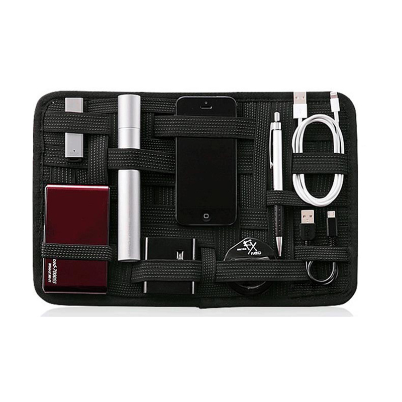 Elastic Organizer Board for Electronic Gadgets, Chargers & Cables