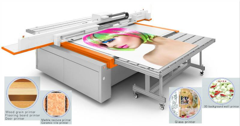 uv flatbed printer printing machine