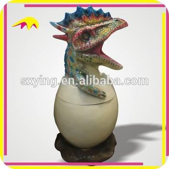 KANO4999 Newest Design Funny Fiberglass Dinosaur Egg Trash