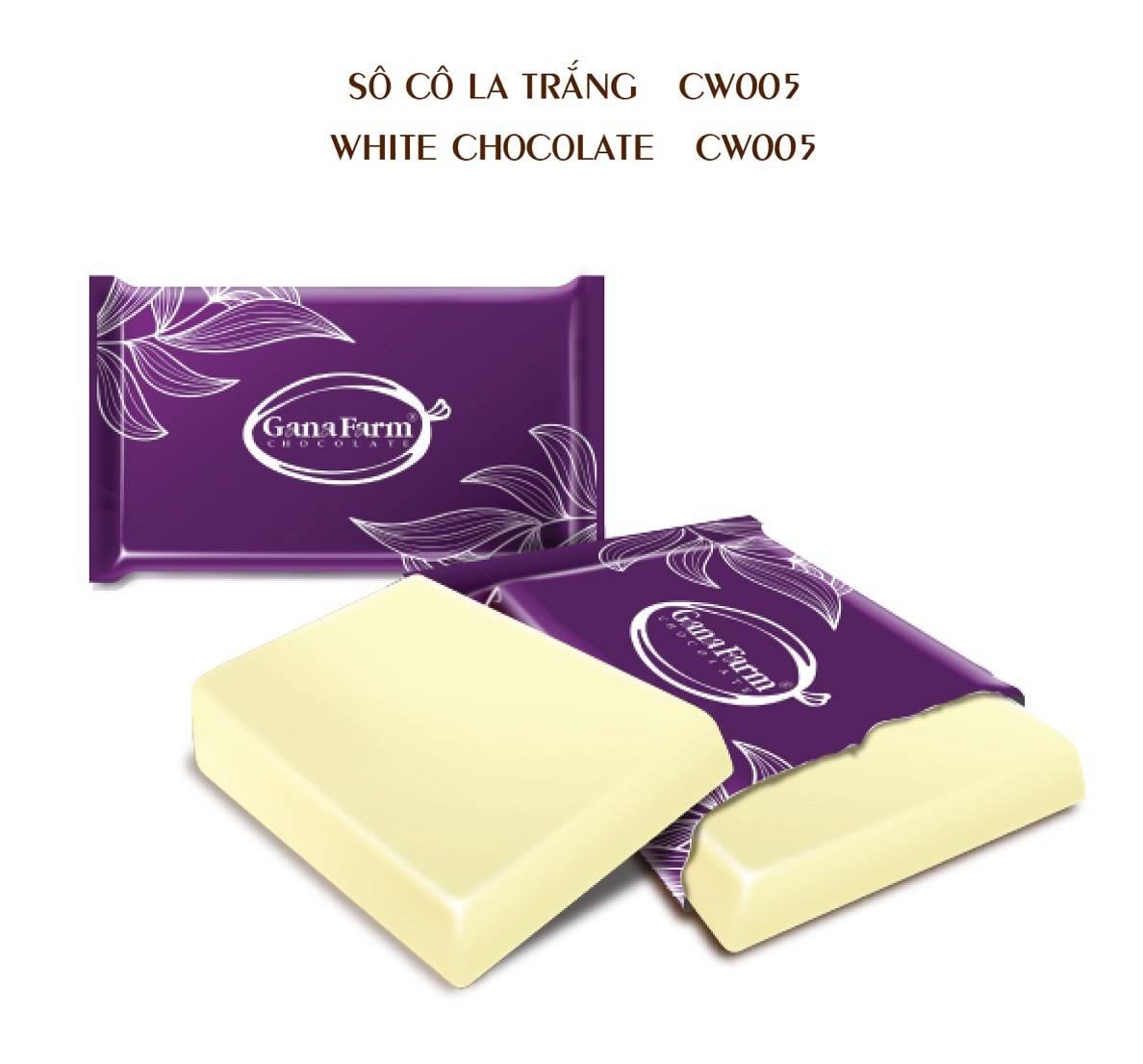 GANAFARM WHITE CHOCOLATE 1KG
