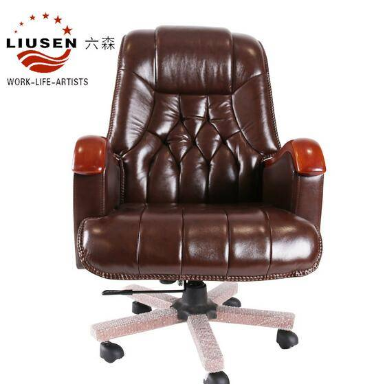 2016 New Hot Sale Elegant Cow Leather Office Executive Chair Adjustable Boss Chair (LS-DB-0002)