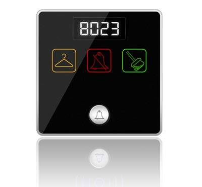 Smart-Bus Hotel Door Bell Panel with Service - SB-3SBell-WL