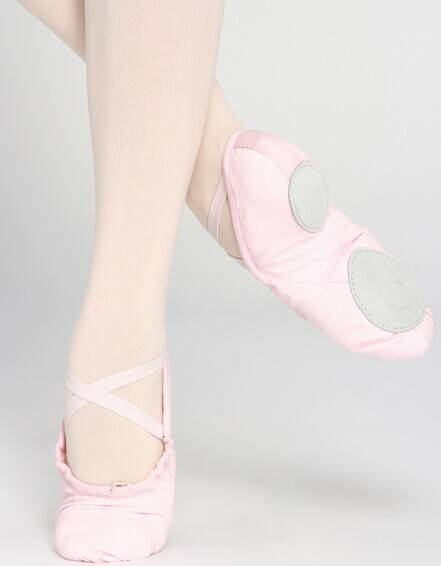 split sole canvas ballet shoes slippers D004702