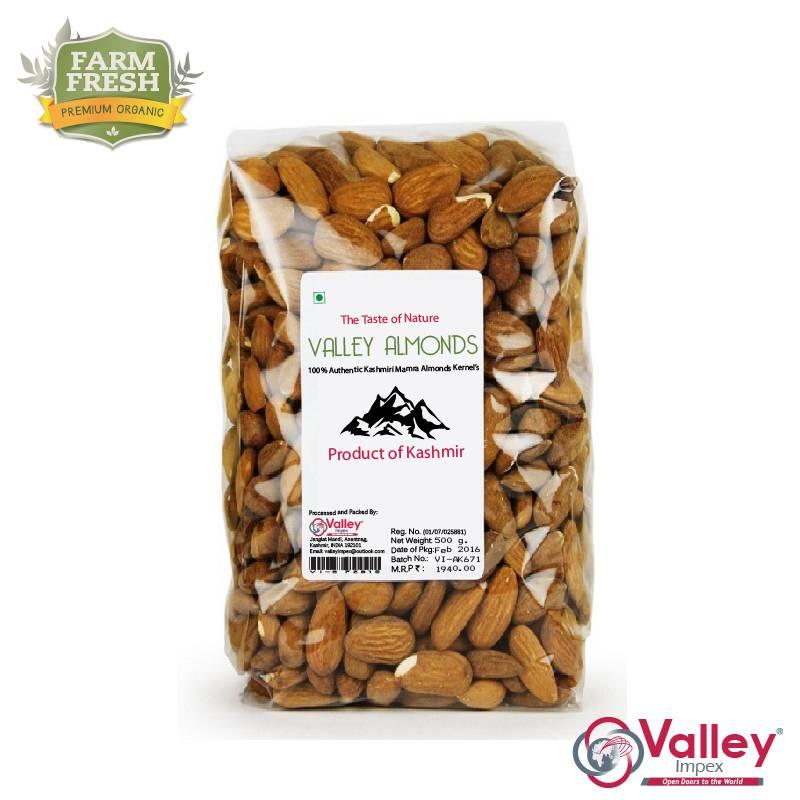 Mamra Almonds Kernels Kashmiri Organic Badam Giri Premium Grade