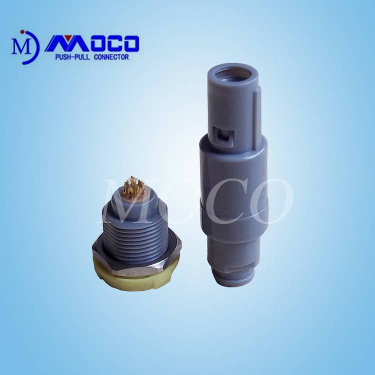 ISO9001 approved M14 8 pin self latching plastic cable connector