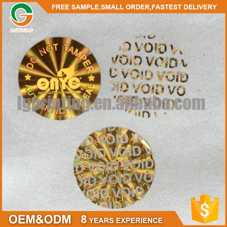 OEM 3D laser sticker VOID anti-fake security label