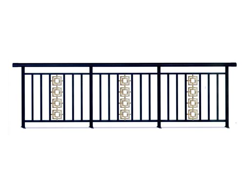 Balcony railing made in aluminum/iron