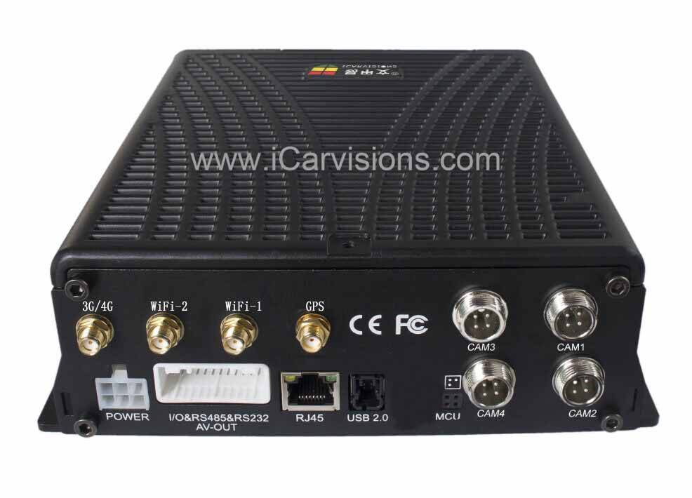 4 Channels High Definition Hard Disk Mobile DVR vehicle car black box dvr