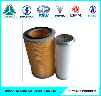 Air filters K2436 for Hitachi excavator, Sumitomo excavator, KingLong truck
