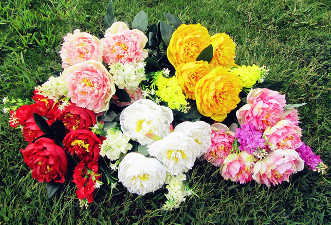 (8 heads/bunch) 2016 New.Silk / Simulation / Artificial flower Peony flower bouquet.