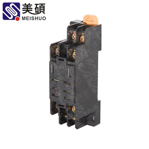 MEISHUO PTF08A socket 8pin embedded screw relay socket