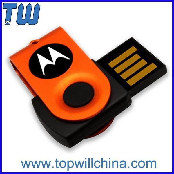 Tiny Mini Swivel Capless 32GB Pen Drive Free Key Chain