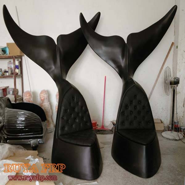 Hotel decoration chair,whale chair furniture decoration high quality real leather public display sea