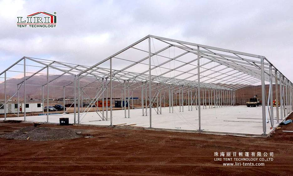 Strong Frame 6m height tent for Warehouse with sandwich panels