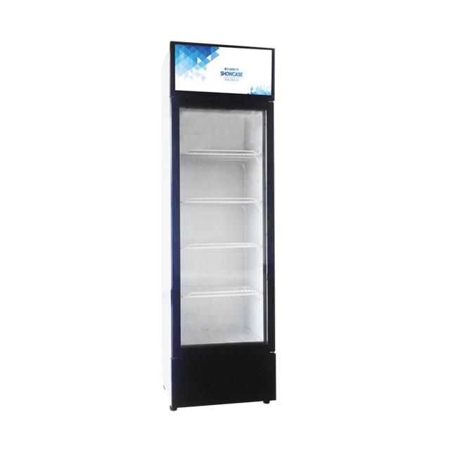 Single Glass Door Vertical Beverage Cooler Showcase For Promotion