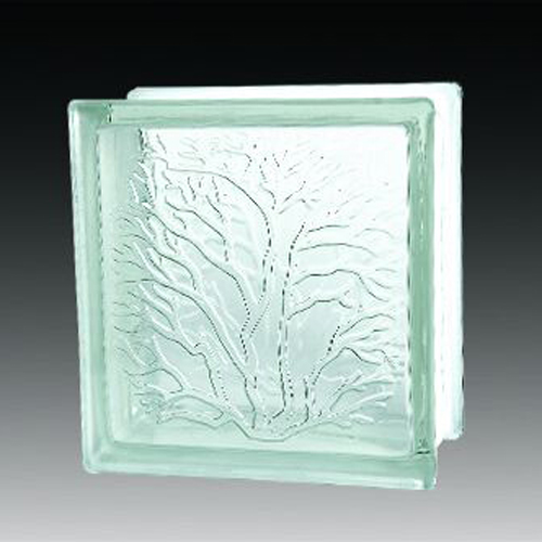 Coral brick decorative crystal glass block