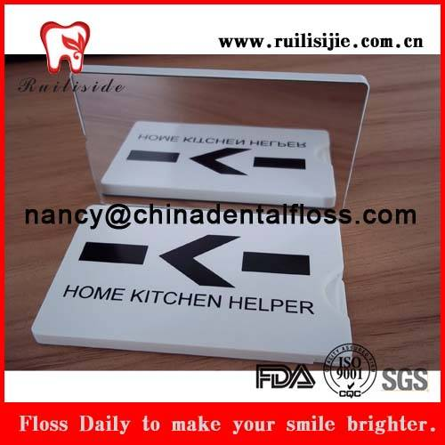 Business card shape dental flosser bulk dental floss products for bad breath