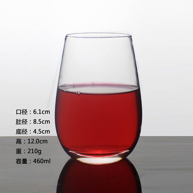 Clear Glass Tumbler Drinking Wine Glass Cup Tableware Wine Cup