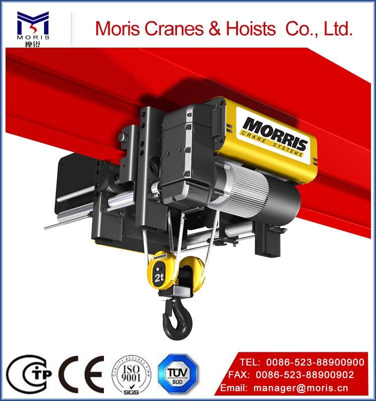 Morris wire rope hoist with moderate price