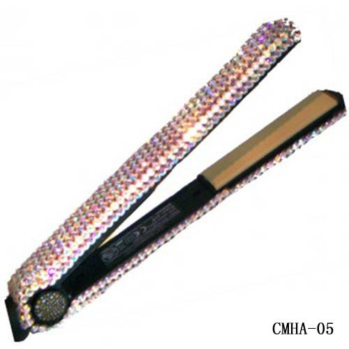 Swarovski Crystal Hair Flat Iron-Hair Beauty