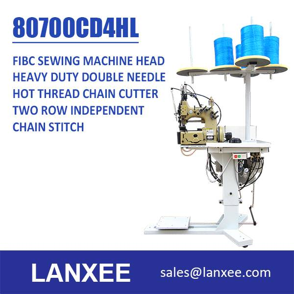 Lanxee 80700 Double Needle Four Thread Bag Sewing Machine