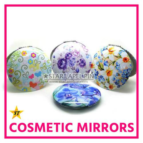 Round Heart Square Custom Cosmetic Metal Portable Pocket Compact Cosmeric Mirror