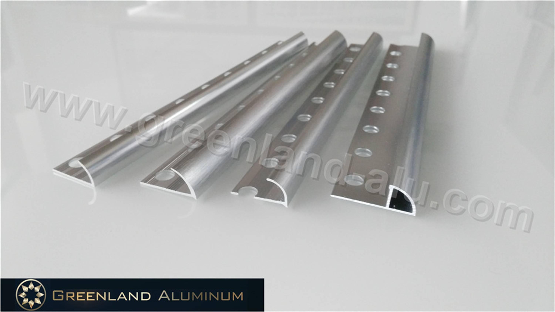 Aluminium Profile R-Shape Corner Edge Trim with Anodized Bright Silver Color