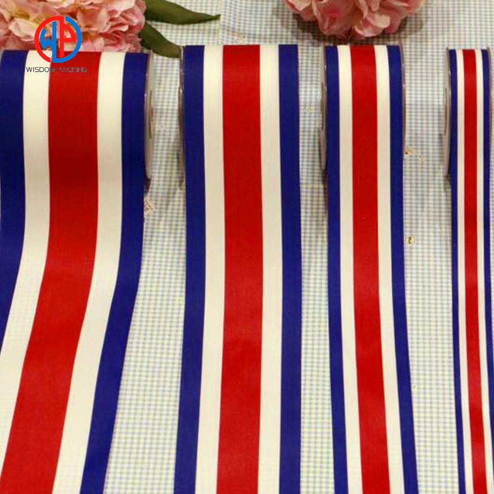 100% polyester striped satin ribbon