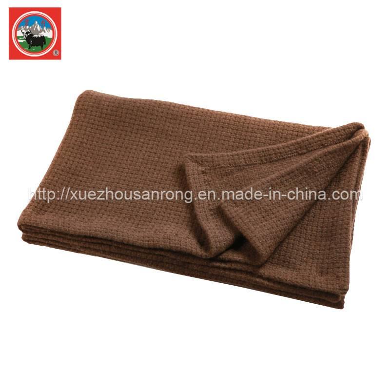 Jacquard /pieapple yak wool/cashmere blanket