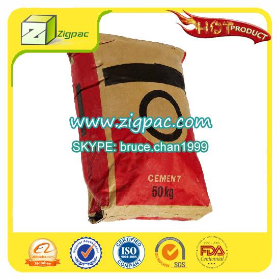 Export to US and FDA certificate approved high quality 50kg cement bag