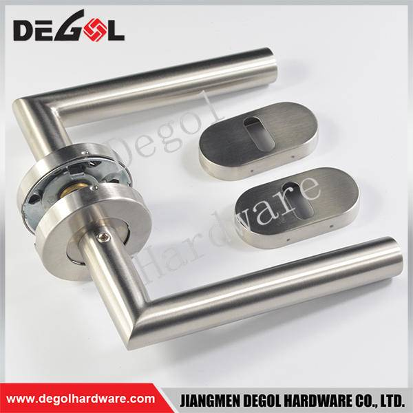 Cheap stainless steel tube lever type american door handle and locks