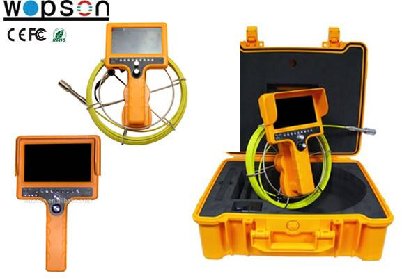Sewer inspection camera with video camera