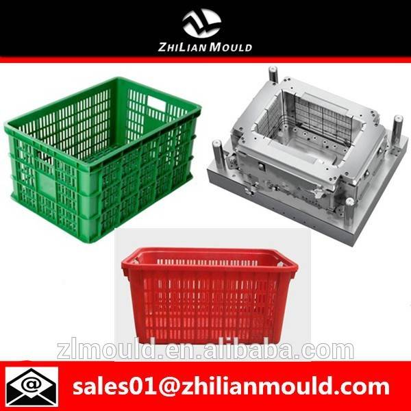 zhejiang high quality plastic vegetable crate mould injection mold
